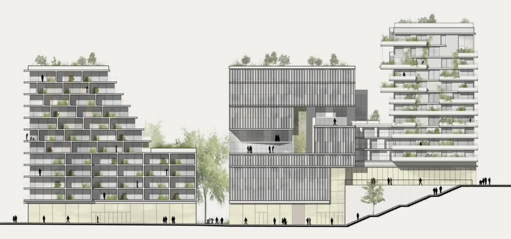programme immobilier mixte de logements commerces parking public fabienne g rin jean. Black Bedroom Furniture Sets. Home Design Ideas